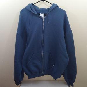 Men's vintage Russell athletic blue full hoodie XL